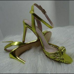 "Chinese Laundry ""Selina"" Gold Metallic Heels 7.5"